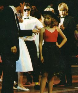 13 year old me as Cha-Cha in grease musical.